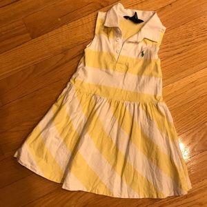 Ralph Lauren 4/4T yellow stripe dress GUC